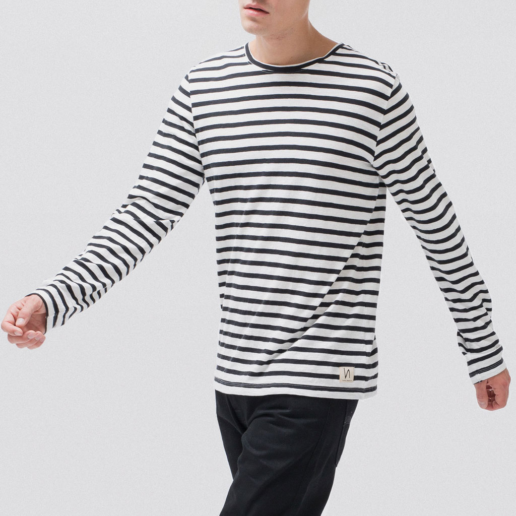 paletti Nudie Jeans Longsleeve Orvar Graphic Stripe Organic Cotton