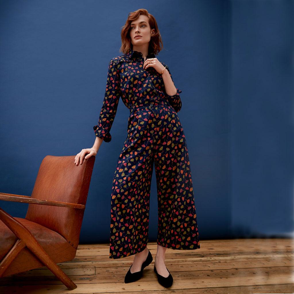 paletti People Tree V&A Poppy Print Jumpsuit 100% Organic Cotton