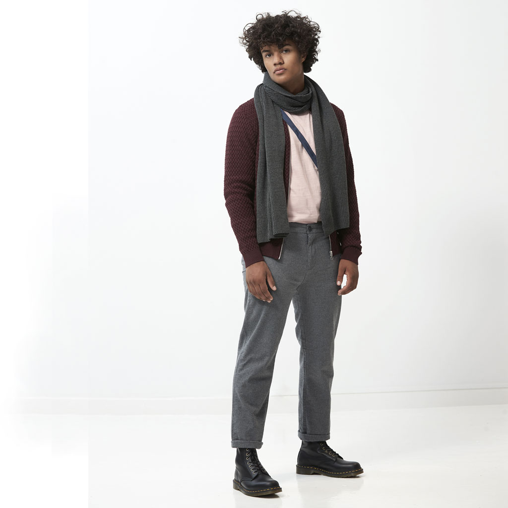 paletti shop the look Scarf Cardigan Chino pants