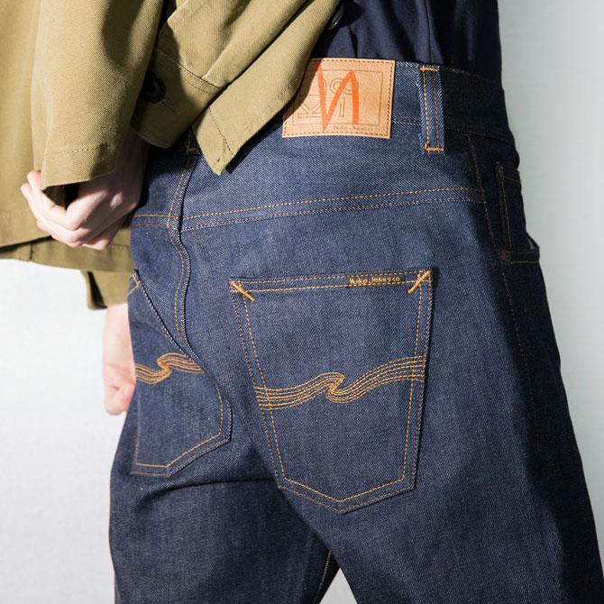 paletti Nudie organic Jeans dry denim
